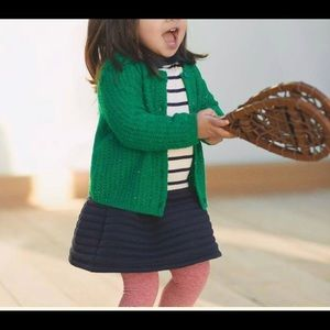 NWT Petit Bateau: Knit Cardigan in Green